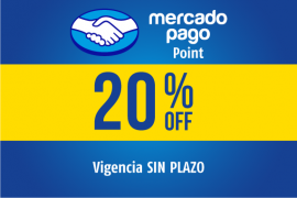 MERCADO PAGO POINT</br> 20% OFF