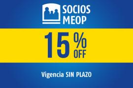 SOCIOS MEOP</br> 15% OFF