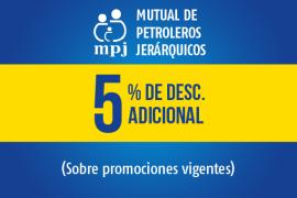 Mutual de Petroleros Jerárquicos</br> 5% off adicional sobre las promociones vigentes.
